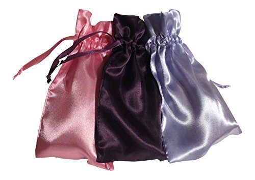 "Tarot Bags: Wisdom and Insight Colors Satin Bundle of 3: Purple Lavender and Rose (5"" X 8"" Each)"