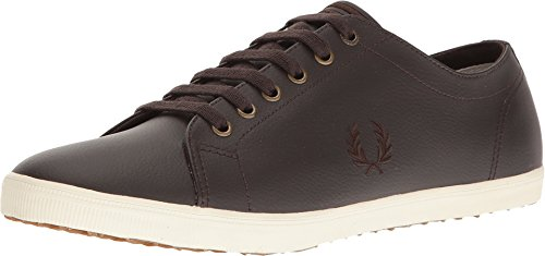 Kingston Brown Leather - Fred Perry Men's Kingston Leather Dark Chocolate/Dark Chocolate Oxford