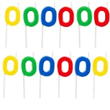 kitchen 67 menu Dept. 67 (12 Pack) Letter O Birthday Candles Bulk Party Supplies Cake Topper Shapes Letters Sports Cupcake Candles for Kids Adults