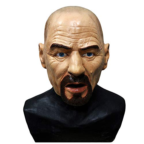 Realistic Bald Head Latex Mask Celebrity Mask Walter White Human Male Head Mask Fancy Dress Costumes -