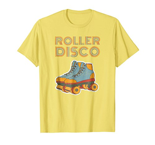 Mens Cool Vintage Roller Disco Retro 70s and 80s party T-shirt Small Lemon