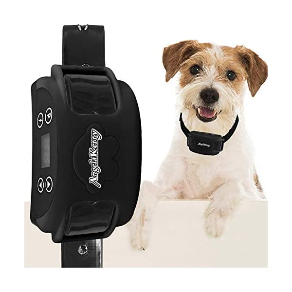 AngelaKerry-Wireless-Dog-Fence-System-with-GPS-Outdoor-Pet-Containment-System-Rechargeable-Waterproof-Collar-850YD-Remote-for-15lbs-120lbs-Dogs-Black-1pc-GPS-Receiver-by-1-Dog