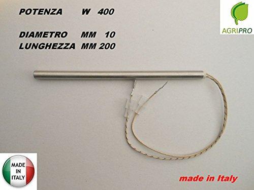 Agripro - Resistencia de encendido para estufa de pellets (10 x 200 mm, 400 W): Amazon.es: Hogar