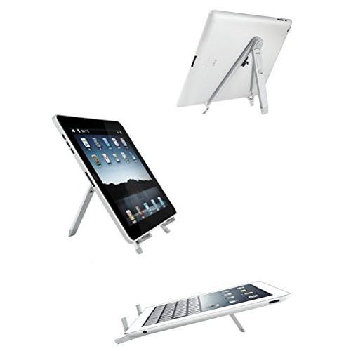 UEETEK Foldable Tripod Stands,Tablet Travel Stand Holder,Portable Universal Folding Desk Stand For iPad Notebook Galaxy Tab Tablet Smartphone (Silver) by UEETEK