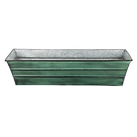 Achla Designs Galvanized Window Flower Box Planter, Small - Copper Window Box