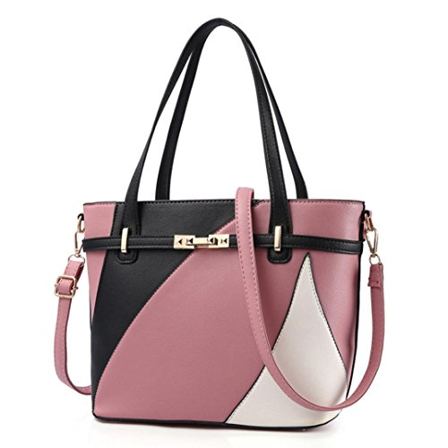 - ❤️Women Shoulder Bag, Neartime Hot New Fashion 2018 Handbag Tote Patent PU Leather Embossed wallets (free, Watermelon Red)