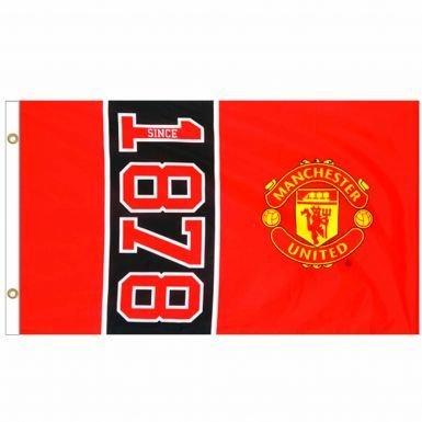 Giant Manchester United Est 1878 Crest Flag B0725LCLYZ