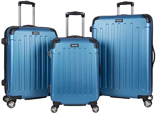 Kenneth Cole Reaction Renegade 3-Piece Lightweight Hardside Expandable 8-Wheel Spinner Travel Luggage Set, Vivid Blue, (20″/24″/28″)