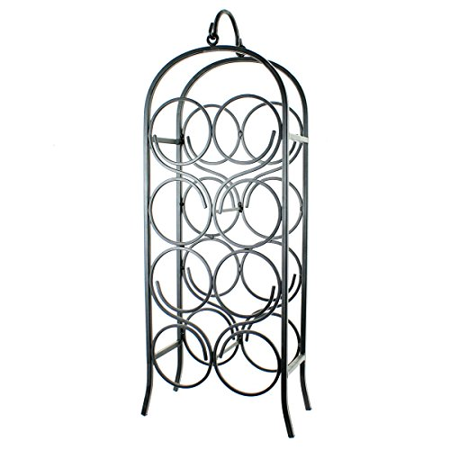 - Oenophilia Cathedral Wine Arch, Black - 8 Bottle