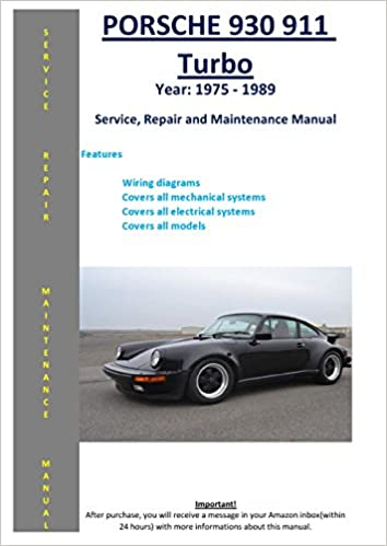porsche 930 911 carrera, turbo, sc from 1975 - 1989 service repair  maintenance manual: softauto manuals: 5826002600476: amazon com: books