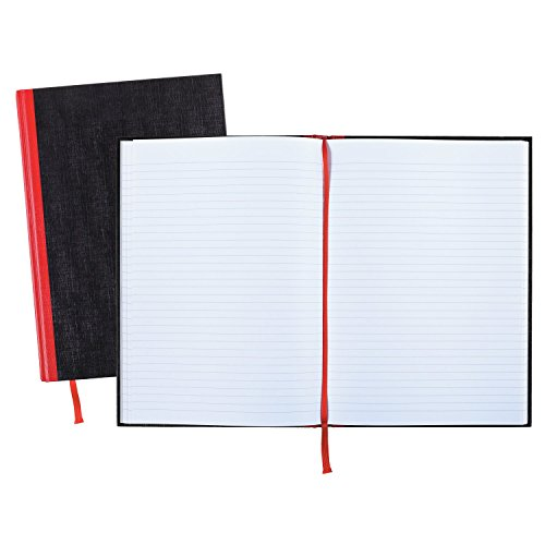 Black n Red Hardcover Executive Notebook, 11.75 x 8.25 Inches, Black, 96 sheets/192 pages, 3 Pack