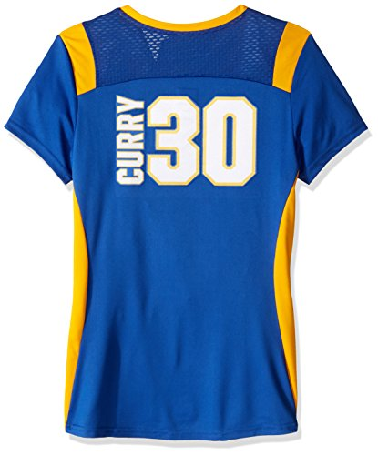 VF LSG Draft Him Player Program Nbawomen's Deep V-Neck Synthetic Tee, Large, Deep Royal-Yellow Gold