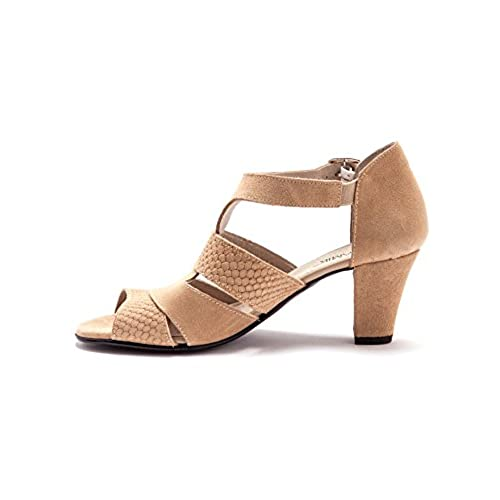 Balsamik - Sandales en cuir velours - femme delicate