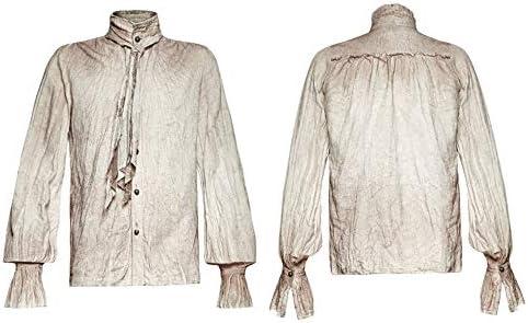 Zhanghanzong-Belt Camisas Casuales con Botones para Hombres Camisa de Rebeca Retro gótica de Bowtie Steampunk Vieja Camisa Lavada Camisa Formal elástica Slim Fit para Hombre Casu (tamaño : M.L): Amazon.es: Hogar