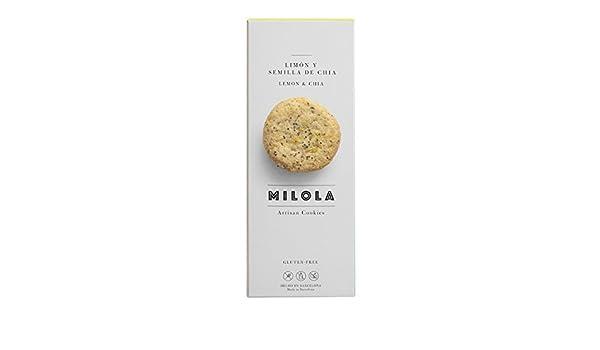 Milola - Galletas de Limón y Semillas de Chia - 140 gramos: Amazon.es: Alimentación y bebidas