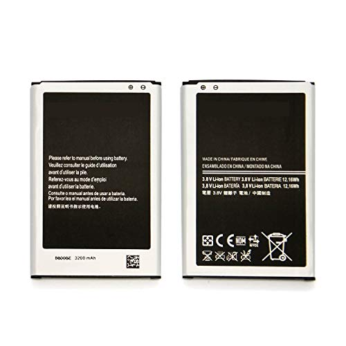 Drain Eazy - FrontTech 3200mAh OEM Battery+Charger For Samsung Galaxy Note 3 N9000 N9005 N900A N900 (2batteries+1charger)