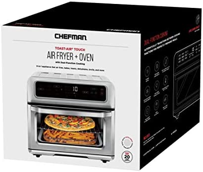 Chefman Toast-Air Air Fryer + Oven, 9 Cooking Presets w/Convection Bake & Broil, Auto Shut-Off, 60 Min Timer, Fry Oil-Free, Nonstick Interior, Toast Shade Selector, Stainless Steel, 20L
