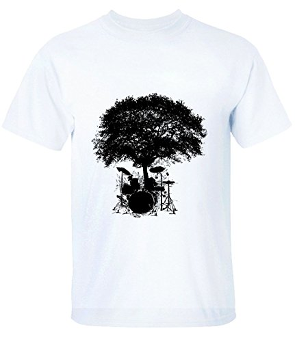 A11 Trees Grow on Drums Creative B2 Tee Shirts for Mens XXL - Fashion Website Fair