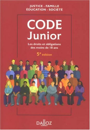 Code junior Broché – 10 septembre 2008 Dominique Chagnollaud Dalloz-Sirey 2247079768 Droit