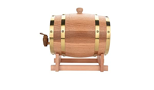 DGTRHTED Wine Barrel - 3L Vintage Wood Oak Timber Wine Barrel Dispensador para Whisky Bourbon Tequila: Amazon.es: Hogar