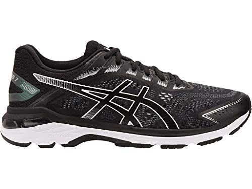 ASICS Men's GT-2000 7 Running Shoes, 10.5XW, Black/White (Best Cushioned Running Shoes For Men)