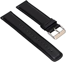 Set of 2 Replacement Leather Bands for LG LGW110 G Watch R ...