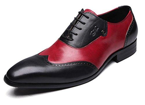 Felix Chu Men's Dress Shoes Men Gentlemen Formal Oxfords Genuine Leather Shoes Men Wedding Party Black Red Shoes for Men Black latest for sale clearance new manchester great sale online 3pK7tyOW3