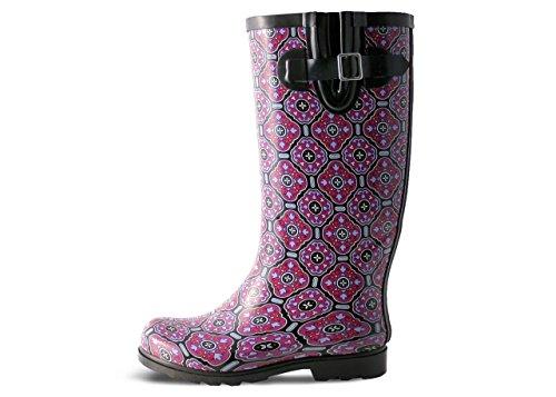 Women's Rain Puddles Boot Tile Plum Nomad Black zUSnqSx