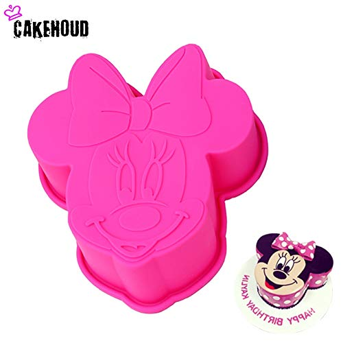 1 piece CAKEHOUD Cartoon 3D Minnie Mouse Styling Silicone Mold Fondant Chocolate Pudding Candy Jelly Mould Cake Decoration Baking Tool ()
