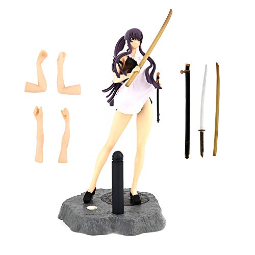 (Raleighsee Highschool of The Dead Anime Busujima Saeko 1/8 Gentleman Edition Boxed Dolls Model PVC Figure / Vinyl Figure / Action Figure / Collectible Anime Fans Gift)