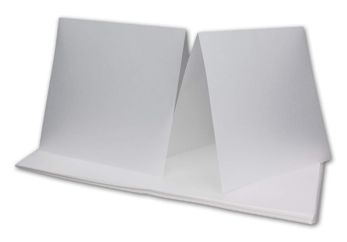 500x doppeltes Einlege-Papier für quadratische Karten - transparent-weiß - gefaltet gefaltet gefaltet 15 x 15 cm -ungefaltet 15 x 30 cm   Bedruckbar mit Laser   hochwertig mattes Papier von NEUSER® B07NTNYKCQ Grukarten Verbraucher zuerst a0585c