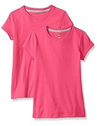 Hanes girls Little Girls Jersey Cotton Tee (pack Of 2)