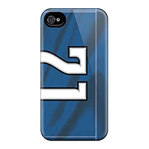 Iphone 4/4s Case Cover Skin : Premium High Quality Detroit Lions Case