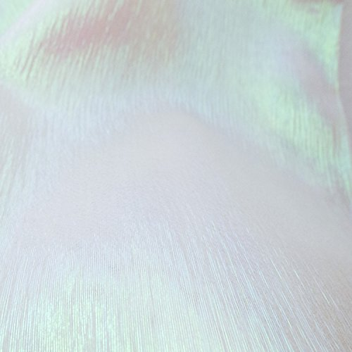 Translucent Iridescent Stretch Lamé Organza Pearl 44 Inch Wide Fabric by the Yard (F.E.®)