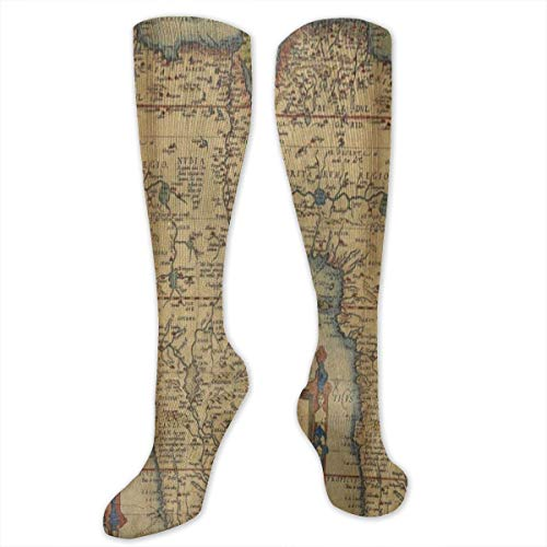 Socks Antique Old Africa Map Unique Womens Stocking Accessory Sock Clearance For Girls