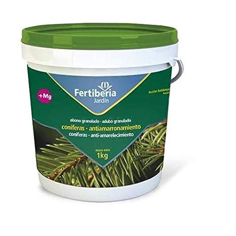 FERTIBERIA Abono granulado 1Kg para coníferas con Efecto antiamarronamiento: Amazon.es: Jardín