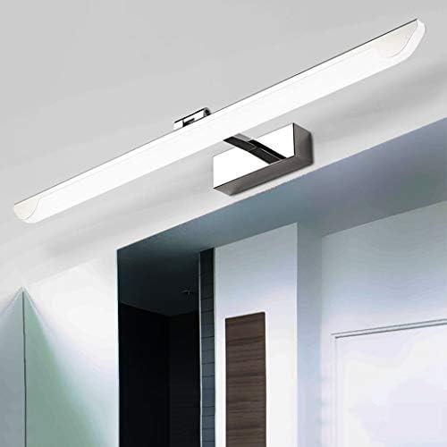 . Acero llevado del espejo inoxidable moderna simple de la luz delantera creativo Cuarto de baño WC impermeable anti-niebla, humedad, iluminación de la lámpara de maquillaje Sink