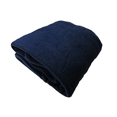 Cozy Fleece Alta Luxury Hotel Fleece Blanket, Queen, Navy