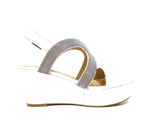 Bruno Premi fa4101N Max Blanc Femme Sandales de chaussures de sport blanches avec strass