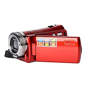 MAGENA Mini DV C8 16MP High Definition Digital Video Camcorder DVR 2.7'' TFT LCD 16x Zoom Hd Video Recorder Camera 1280 x 720p Digital Video Camcorder(Red) by MAGENA