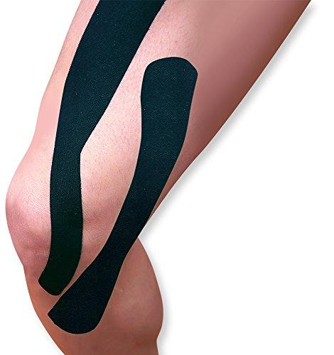 WellWear Kinesiology Tape Synthetic I Strips, Black by WellWear