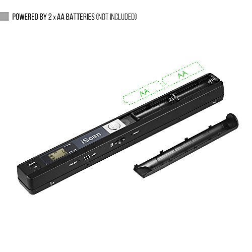 Aibecy Portable Handheld Wand Wireless Document & Images Scanner A4 Size 900DPI JPG/PDF Formate LCD Display for Business Reciepts Books (A)
