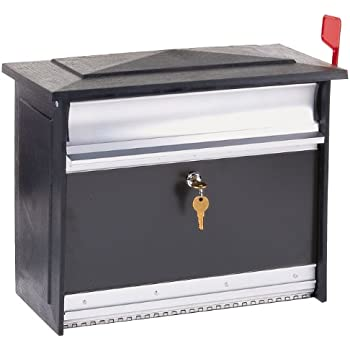home depot black wall mount mailbox locking slot large lockable security