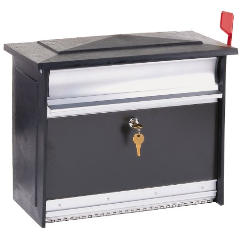 Gibraltar MSK00000 Large Lockable Security Wall Mount Mailbox, Black
