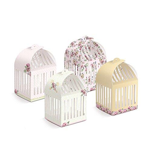 Mama & Mia Premium Party Supplies SECRET GARDEN Decorative Cage Box 8.5cm 8.5cm x 15cm Approx. - 8 Pack | Secret Garden Theme Party Supplies | Secret Garden Decoration | -