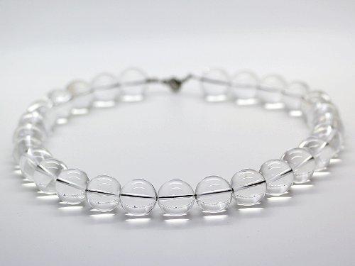 石輝 4A天然本水晶18mm極太数珠ネックレス 運気を良い方向に導く B007CZXJU4