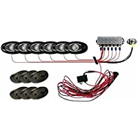 Rigid Industries 40025 Rock Light Kit 6 Lights Cool White 400 Lumens 3 LEDs by Rigid Industries