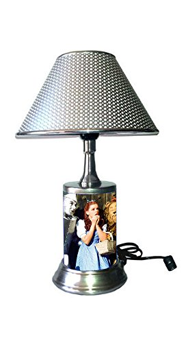 (Wizard of Oz Lamp with Chrome Colored Shade)