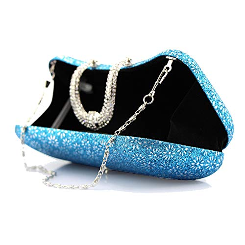 shaped Chain Strap For Black Printing With Women's U Party Prom Banquet Evening Buckle Bag Clutch Wedding fIaYwqWnt