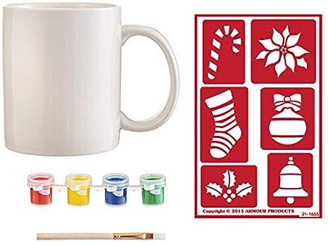 Amazon.com: Kit de pintura para taza de cerámica para ...